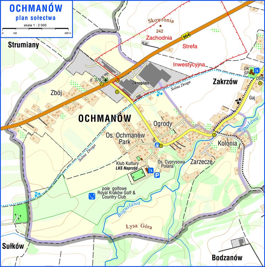 Mapa Ochmanowa