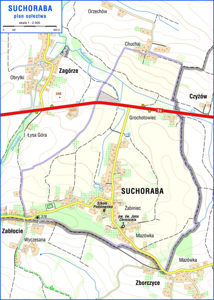 Mapa Suchoraby
