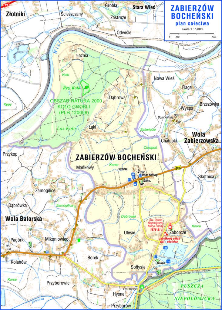 Mapa Zabierzowa Bocheńskiego