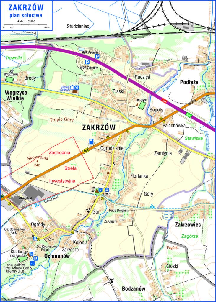 Mapa Zakrzowa